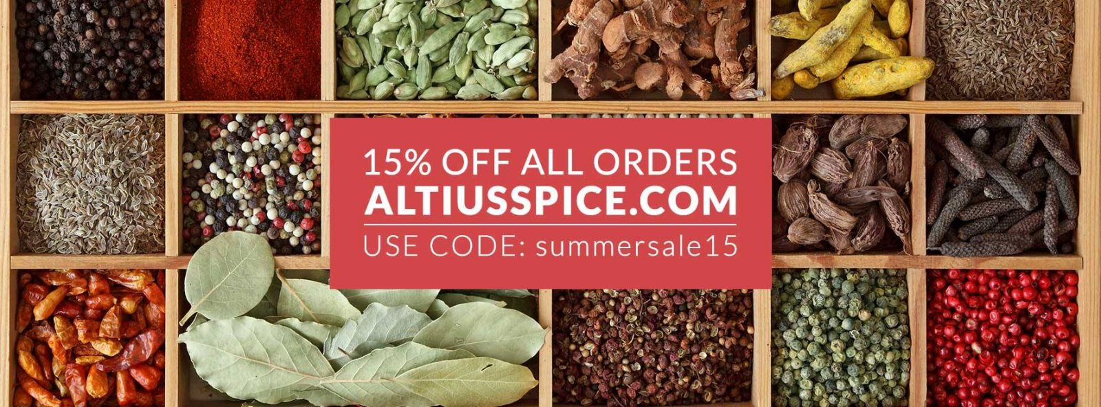 15 percent off spices and seasonings